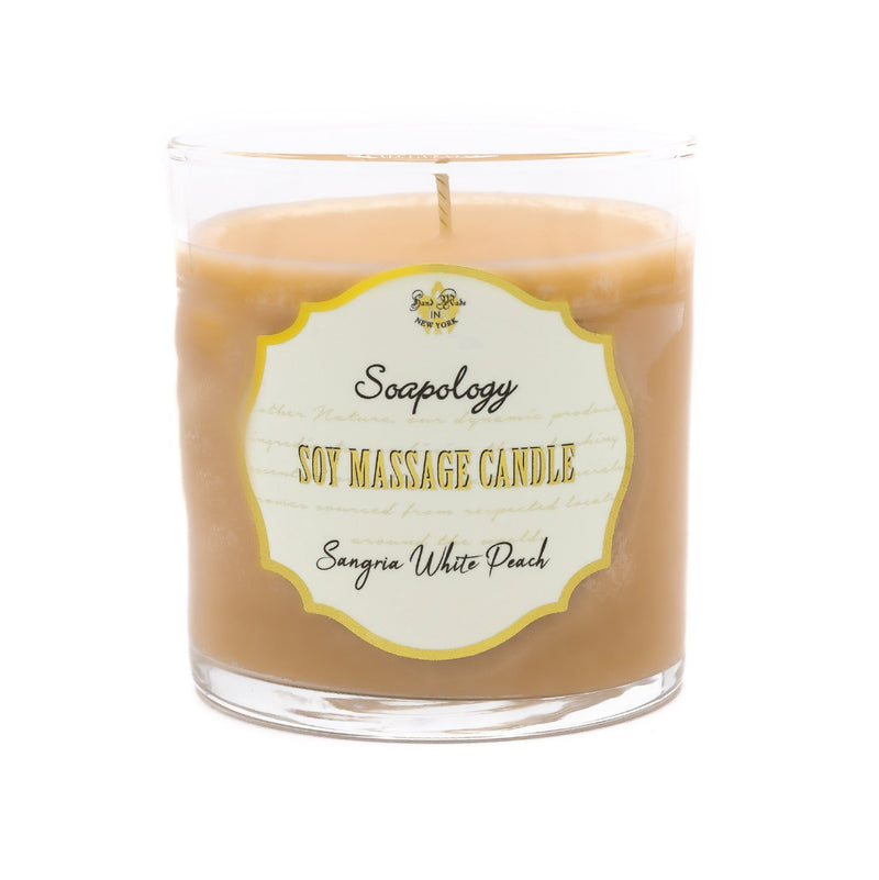 Soy Massage Candle <br> Sangria & White Peach - SoapologyNYC