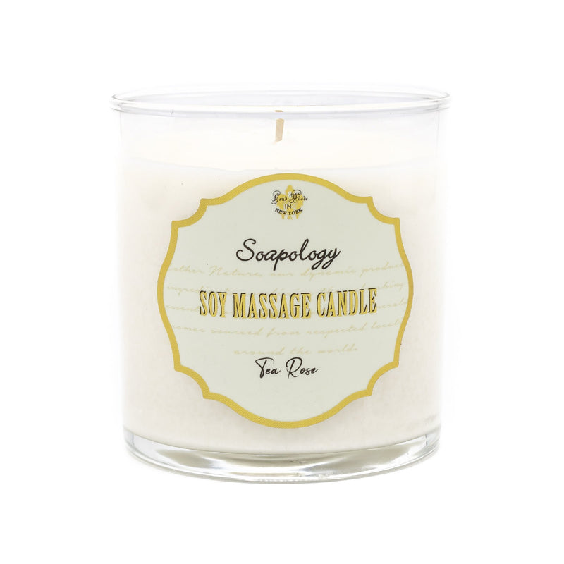 Soy Massage Candle <br> Tea Rose - SoapologyNYC