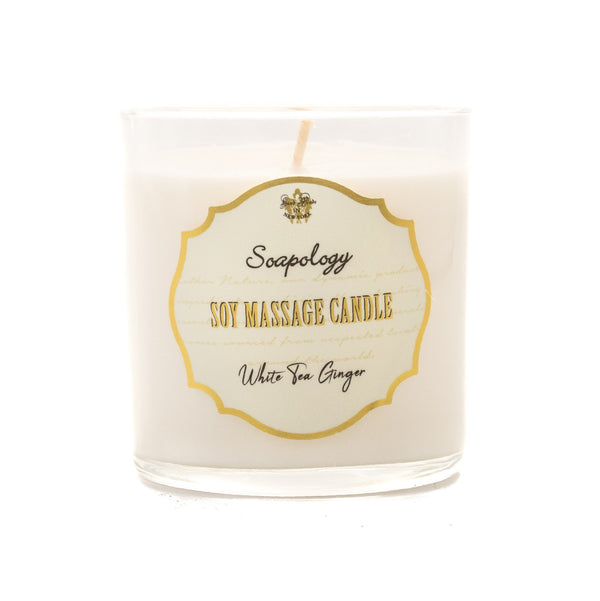 Soy Massage Candle <br> White Tea & Ginger - SoapologyNYC