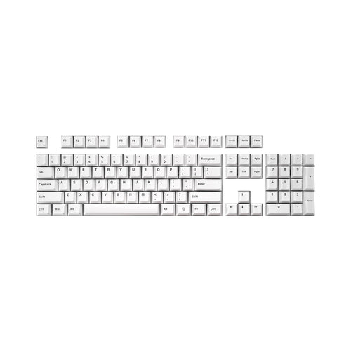 Capturer Black-on-White Double Shot PBT Keycap Set