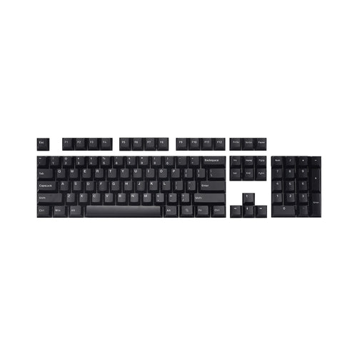 Capturer White-on-Black Double Shot PBT Keycap Set