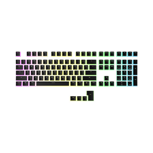 HK Gaming Double Shot PBT Pudding Keycap - Black