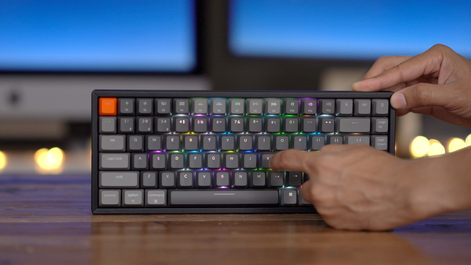 Keychron K2 Wireless Mechanical Keyboard - RGB Backlight Aluminum Fram
