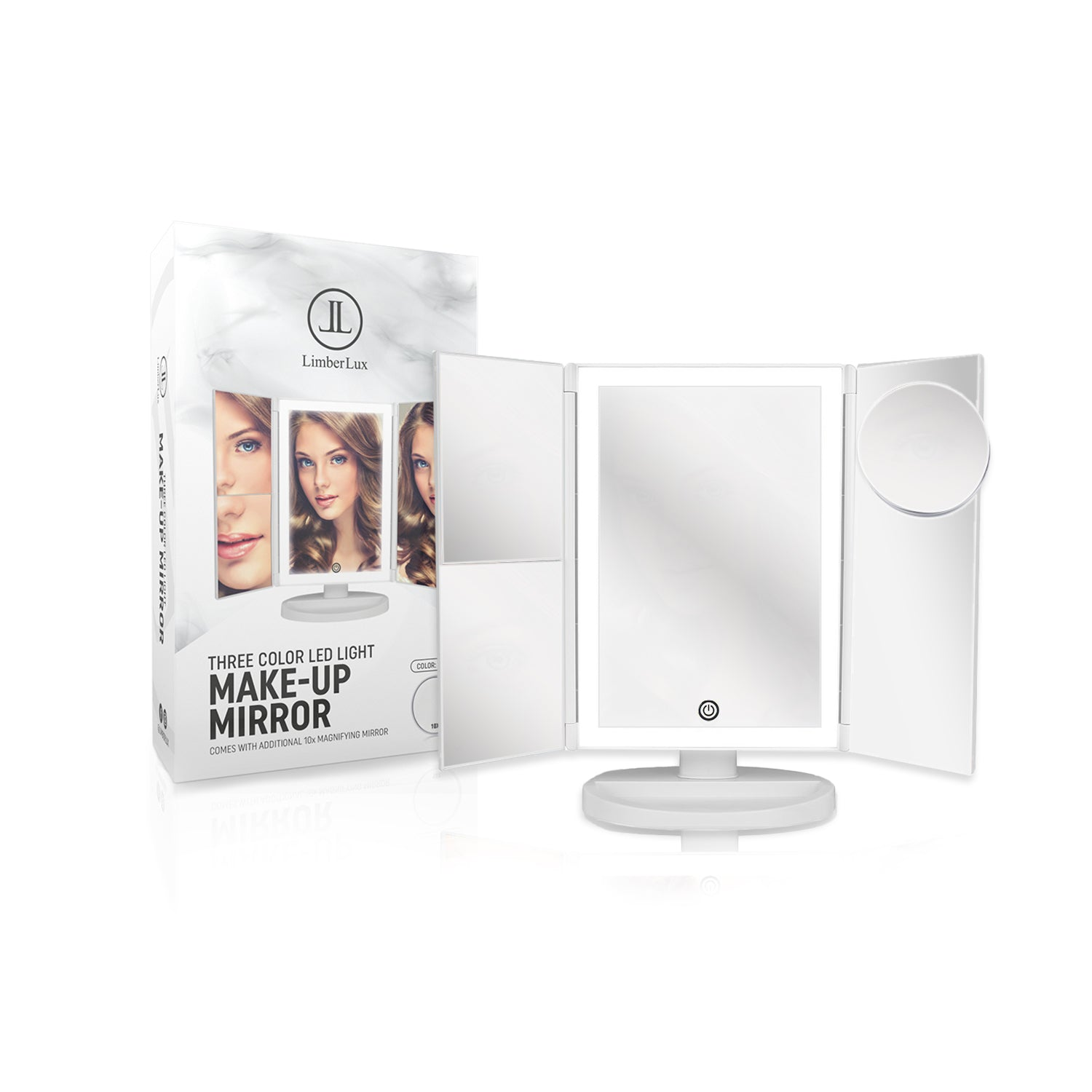 Makeup mirror with lighting