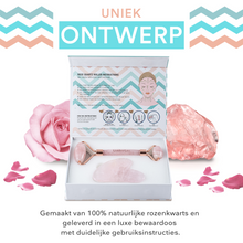 Afbeelding in Gallery-weergave laden, rose quartz face roller in doos