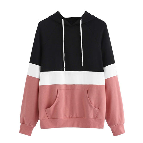 Hoodies Stripe Long-Sleeve