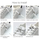 Quick Lazy Metal Lock Laces Shoe Strings