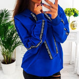 Casual Ladies Hoodies-Tops
