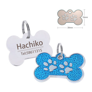 Engraved Nameplate Dog ID Tag