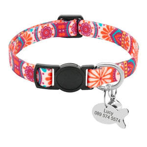 Adjustable / Personalized Nylon Dog Collar