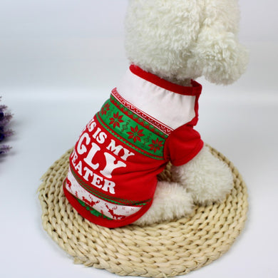 Cartoon Christmas Dog Apparel / Sweater