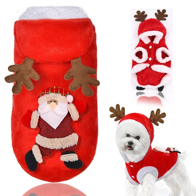 Winter Warm Thick Cartoon Dog Costume
