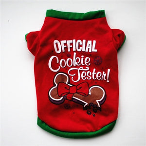 Cute Cartoon Christmas Costume / Jacket For Dogs