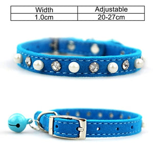 Belled Dog Collar with Personalized ID Tag (Optional)
