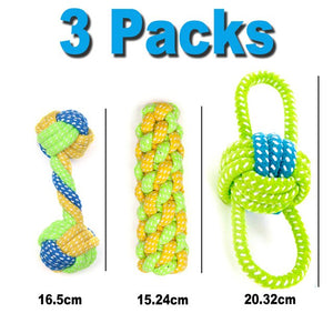 Interactive Teeth Cleaning Rope Dog Chew Toy