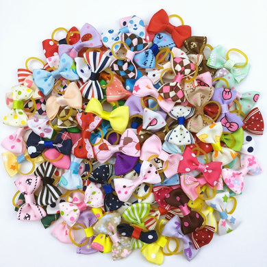 Cute Ribbon Pet Grooming Accessories (100 Pieces)