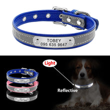 Load image into Gallery viewer, Reflective Personalized / Engraved Anti Lost Dog Collar