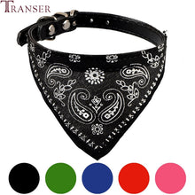 Load image into Gallery viewer, Leather Nerckerchief Dog Bandana