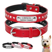 Load image into Gallery viewer, Personalized Engraved Leather Dog Collar