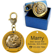 Load image into Gallery viewer, Anti-Lost Engraved Personalized Metal ID Tag / Necklace Pendant
