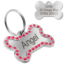 Load image into Gallery viewer, Customized / Decorated Metal ID Tag (Free Engraving)