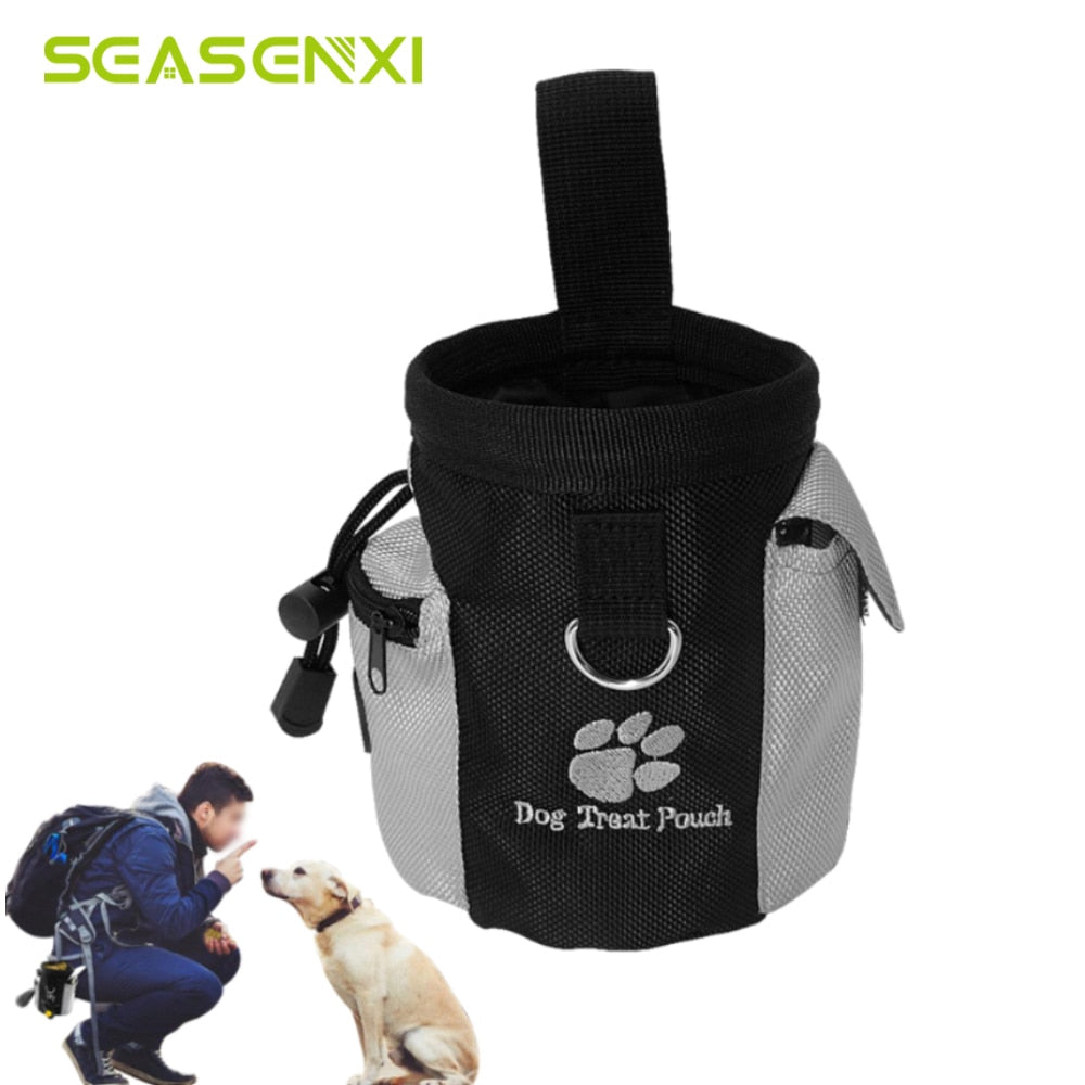 Portable Pet Dog Treat Pouch Dog Obedience Agility Training Treat Bags Detachable Pup Feed Pocket Puppy Snack Reward Waist Bag