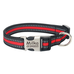 Reflective Personalized / Engraved ID Tag Collar