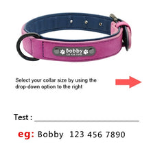 Load image into Gallery viewer, Customized Leather Dog Collar / ID Tag