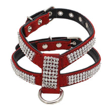 Load image into Gallery viewer, Adjustable Rhinestone Dog Necklace / Harness