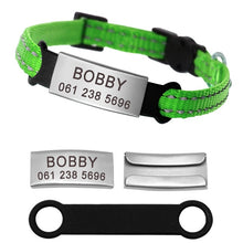Load image into Gallery viewer, Adjustable Reflective Personalized Collar For Small Dogs