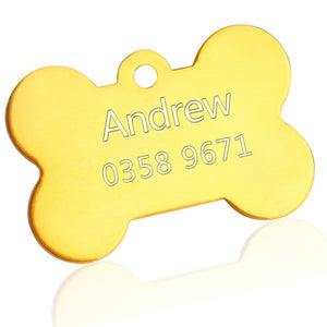 Reflective Engraved Stainless Steel Dog ID Tag