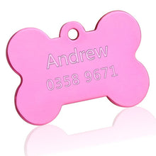 Load image into Gallery viewer, Reflective Engraved Stainless Steel Dog ID Tag