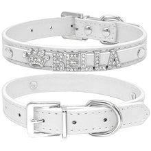 Load image into Gallery viewer, Personalized Rhinestone Charm Dog Collar For Small Dogs