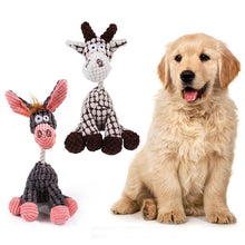 Load image into Gallery viewer, Puppy Chew Squeaker Toy Pet Dog Toys Squeaky Plush Sound Animal Shape Molar Toys Pet Tough Sound Training Treat Dog Toy