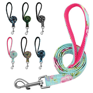 Nylon Print Rope Dog Leash
