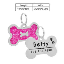 Load image into Gallery viewer, Personalized Stainless Steel Dog ID Tag