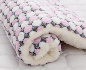 Super Soft Washable Flannel Velvet Cushion Dog Bed