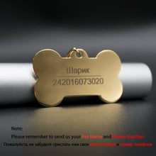 Load image into Gallery viewer, Anti Lost Personalized Engraved Nameplate Dog ID Tag
