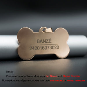 Anti Lost Personalized Engraved Nameplate Dog ID Tag