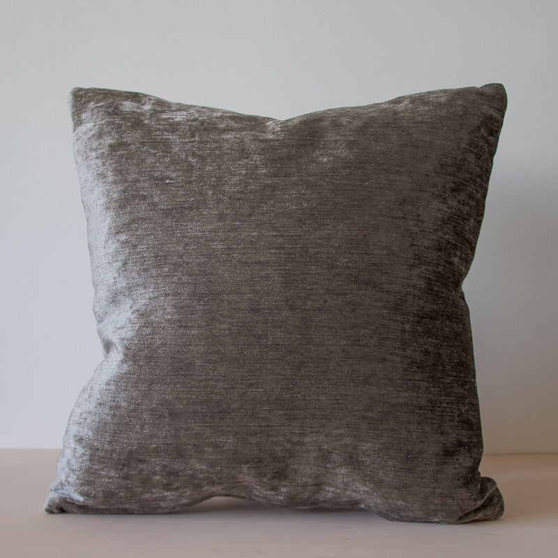 artisan grey cushion made with repurposed linen