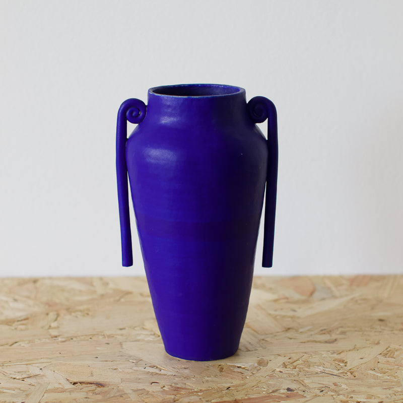 cobalt blue decorative vase by sophie eveleigh