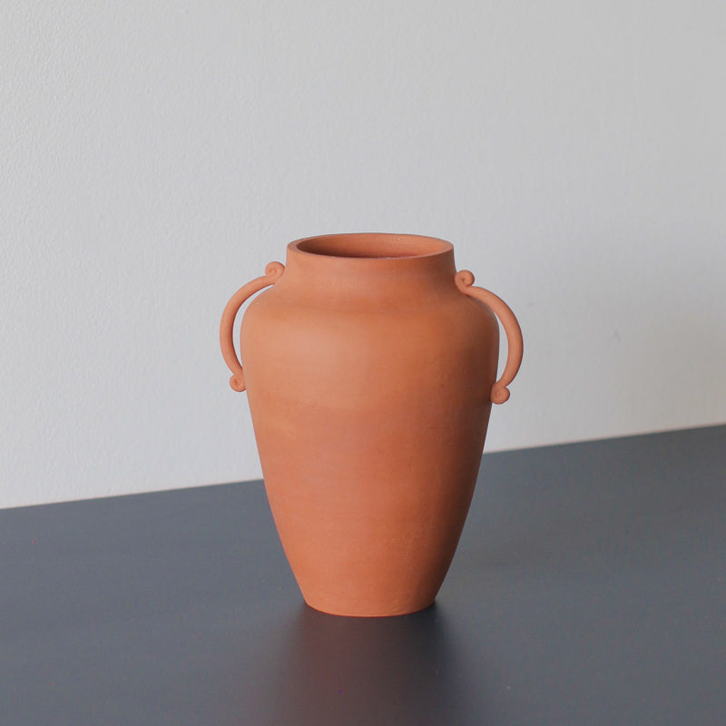 rich terracotta decorative vase made by sophie eveleigh