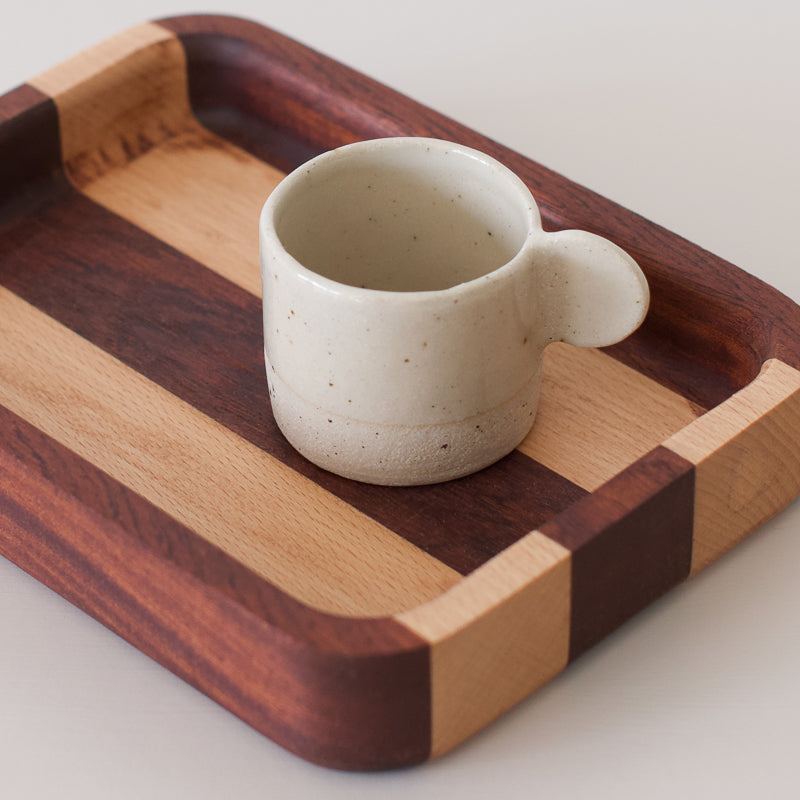wooden tray made with recycled wood by john rigby