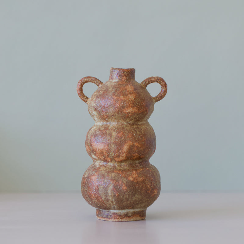 hand built ceramic vase perfect for dried flowers by tonfisk ceramics