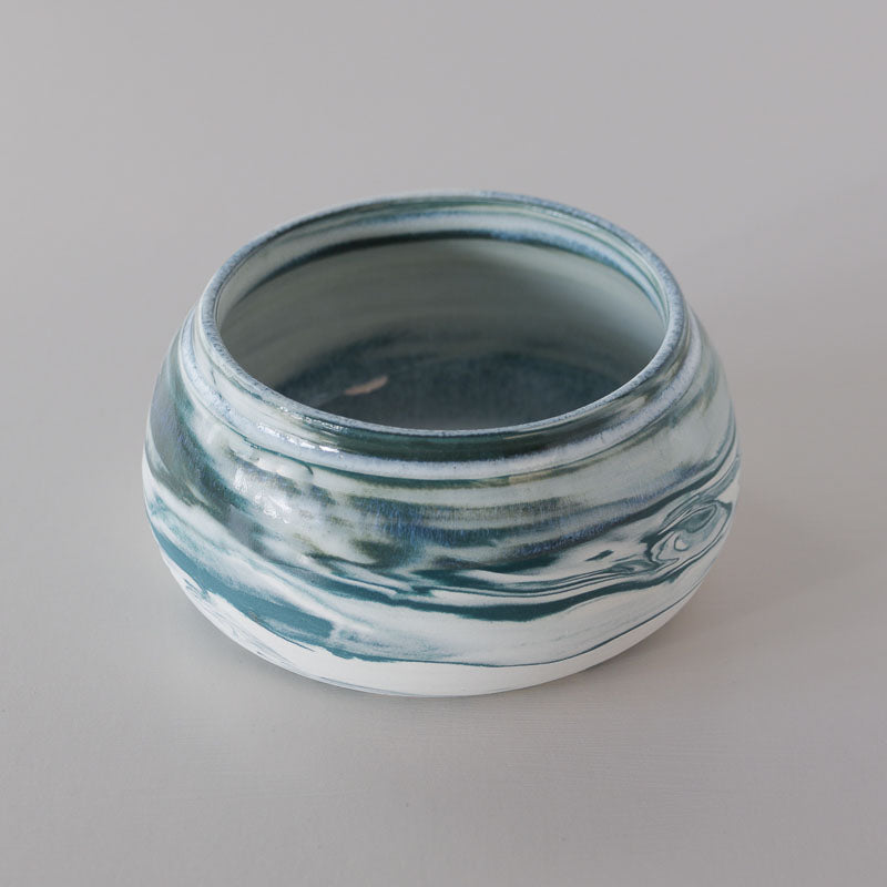 Small Marbled Teal Pot