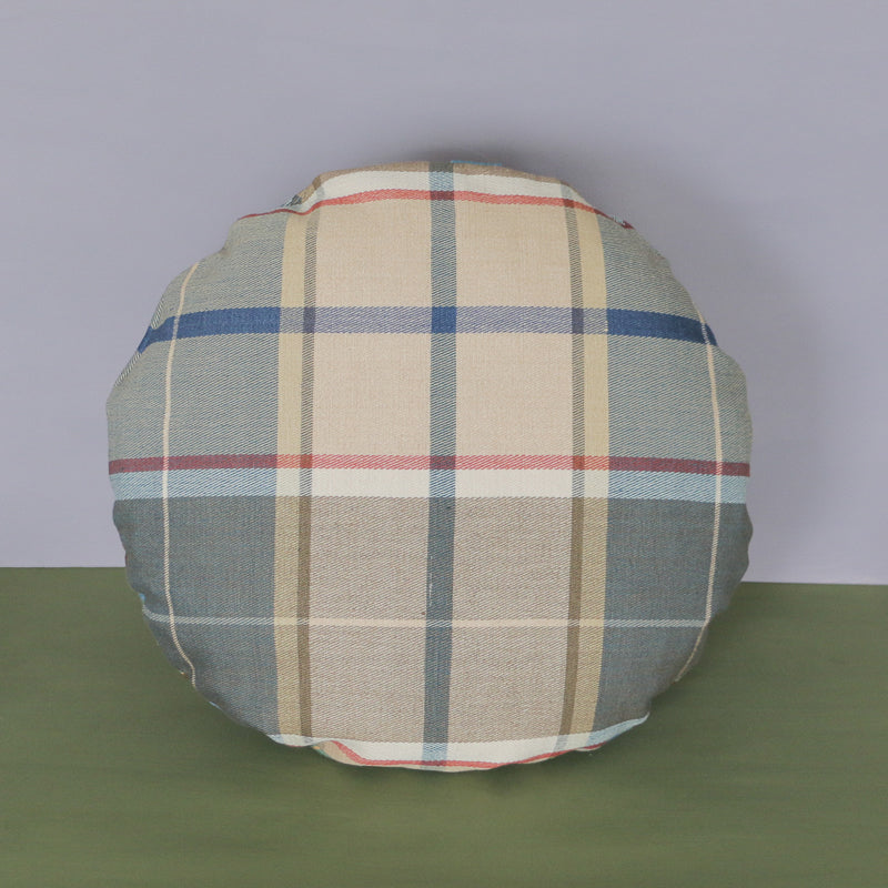 Pair of Round Check Cushions