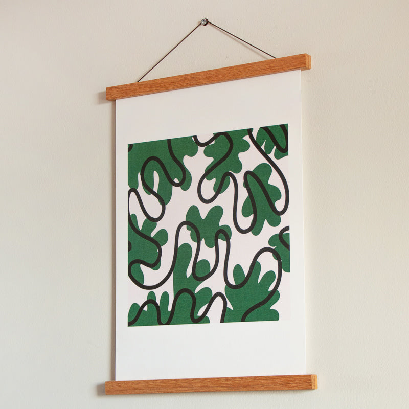 Limited edition abstract artwork print influenced by matisse and flowers created by erica hodgkins