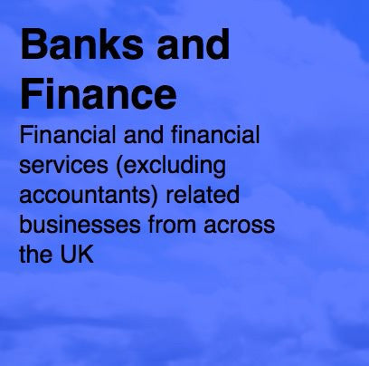 Over 17,500 UK Banks and Financial Services Sector - Email and Business data