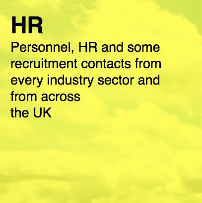 Over 6,000 UK HR Contacts - Email and Business data
