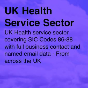 Health Services Sector - Email and Business data